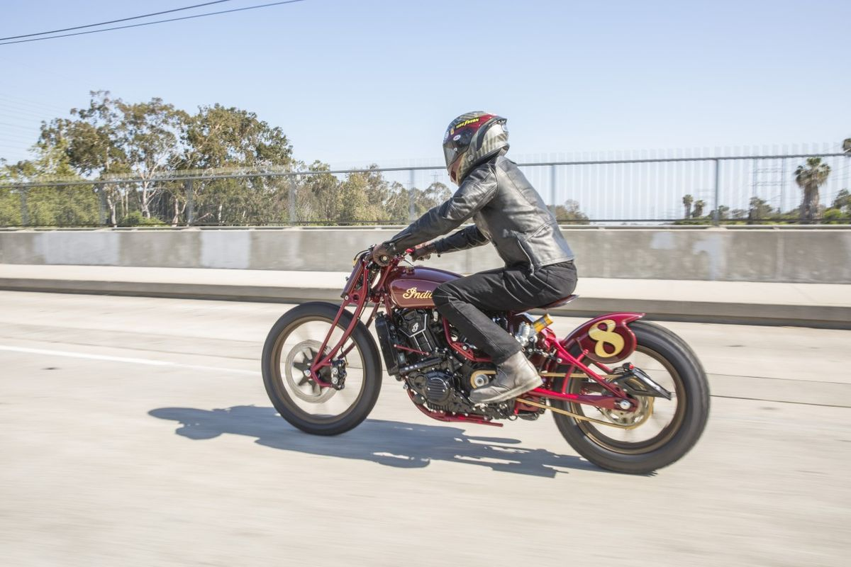 Indian RSD Scout sur la route